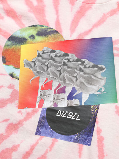 Diesel - TSILYTD, Rosa/Bianco - T-shirts e Tops - Image 3