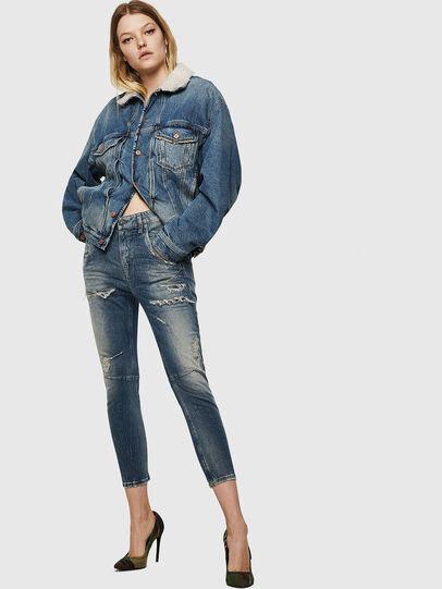 Diesel - Fayza JoggJeans 0890A, Blu Chiaro - Jeans - Image 6