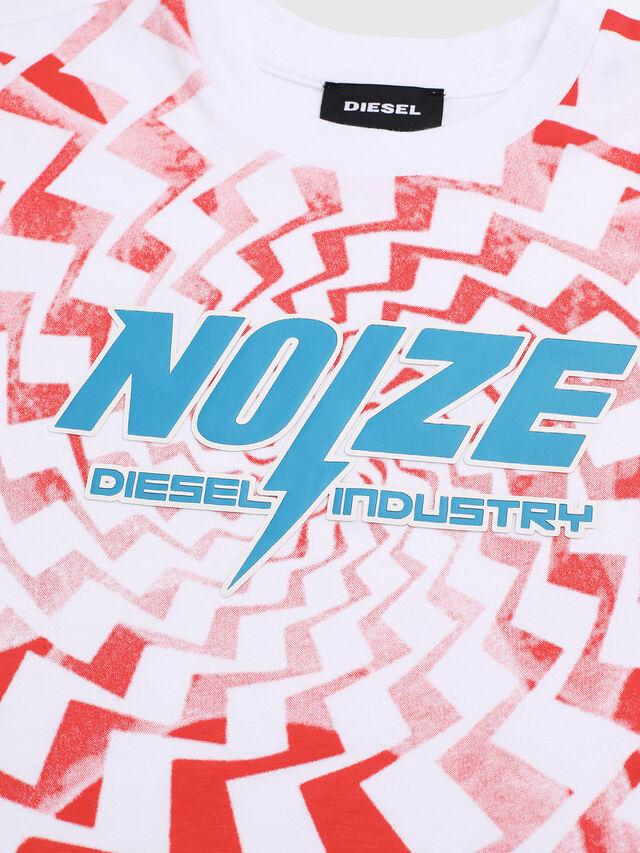 Diesel - TRUCCIB-R, Bianco/Rosso - T-shirts e Tops - Image 3