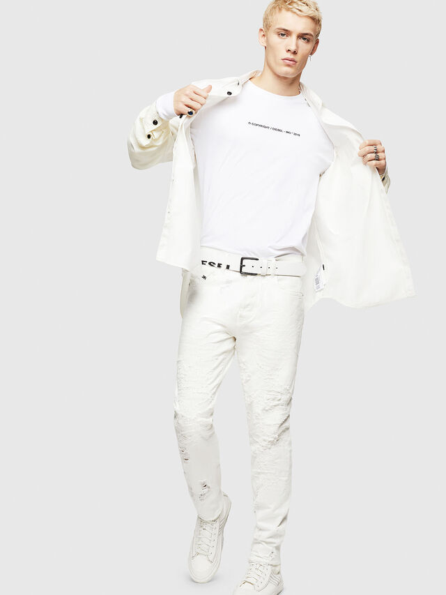 Diesel - Mharky 069GY, Bianco - Jeans - Image 7