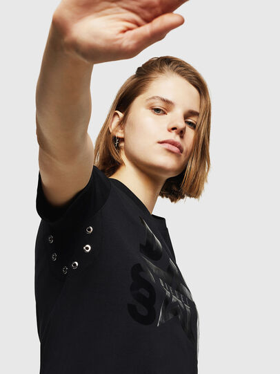 Diesel - T-SILY-WMA, Nero - T-Shirts - Image 3