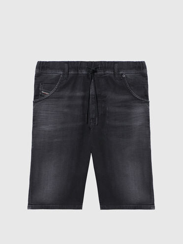 Shorts slim fit in JoggJeans® leggermente trattato
