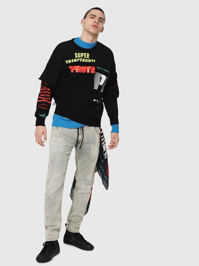 Diesel - Krooley JoggJeans 069FD, Blu Chiaro - Jeans - Image 5