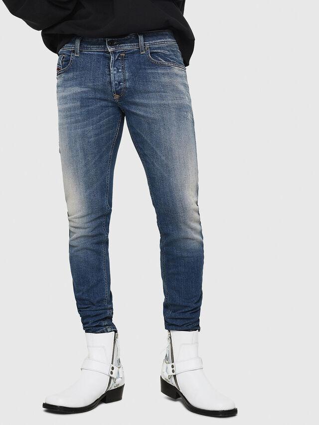 Diesel - Sleenker 069FI, Blu medio - Jeans - Image 1