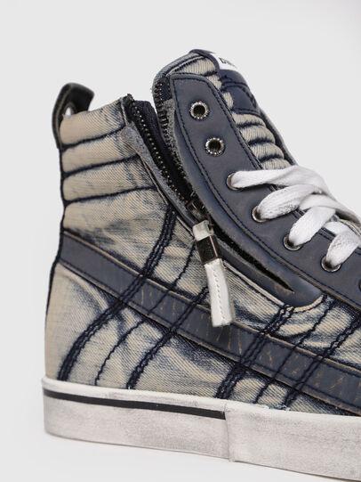 Diesel - D-VELOWS MID LACE, Blu Jeans - Sneakers - Image 4