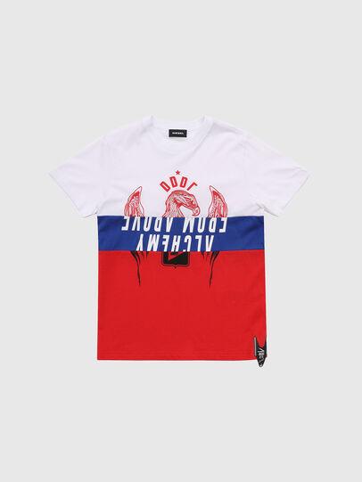 Diesel - TJUSTA1, Bianco/Rosso/Blu - T-shirts e Tops - Image 1