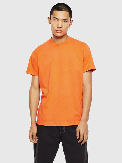 Diesel - T-THURE, Arancione - T-Shirts - Image 1