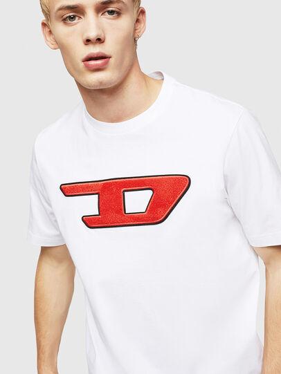 Diesel - T-JUST-DIVISION-D, Bianco - T-Shirts - Image 3