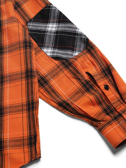 Diesel - D-ANORACHECK, Arancione - Camicie - Image 5
