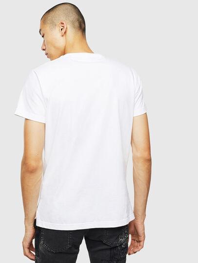 Diesel - T-DIEGO-SLITS-J6, Bianco - T-Shirts - Image 2