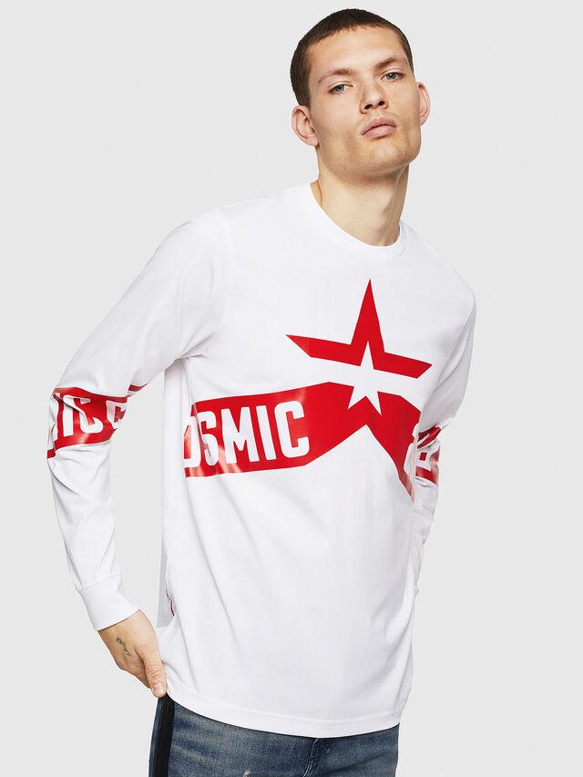 Diesel - T-JUST-LS-STAR, Bianco - T-Shirts - Image 1