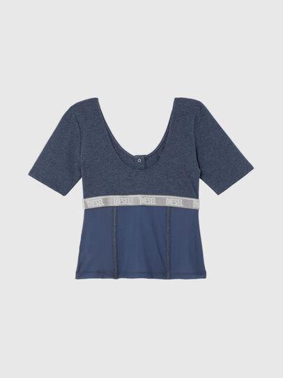 Diesel - UFTEE-TOPCUT-DN, Blu - T-Shirts - Image 2