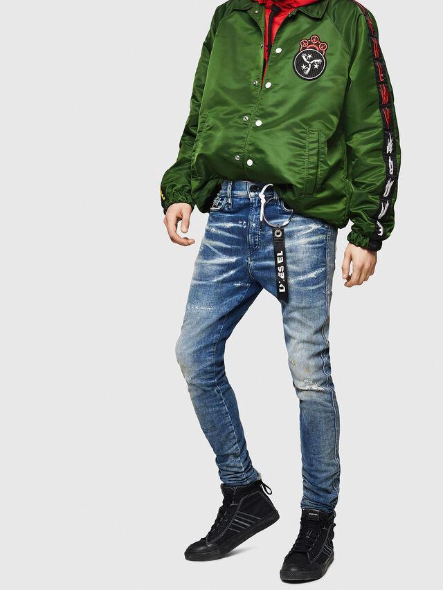 Diesel - D-Reeft JoggJeans 0870Q, Blu medio - Jeans - Image 4