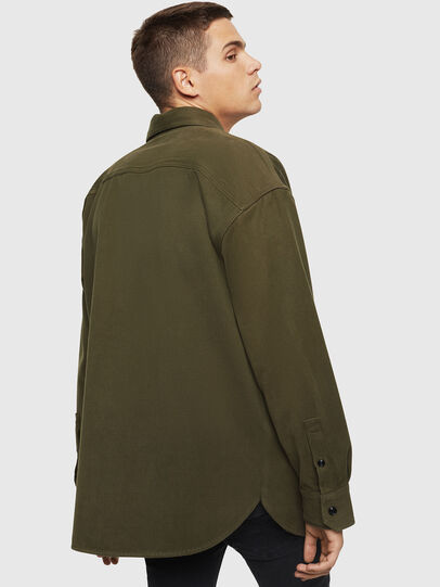 Diesel - S-LEBED, Verde Scuro - Camicie - Image 2