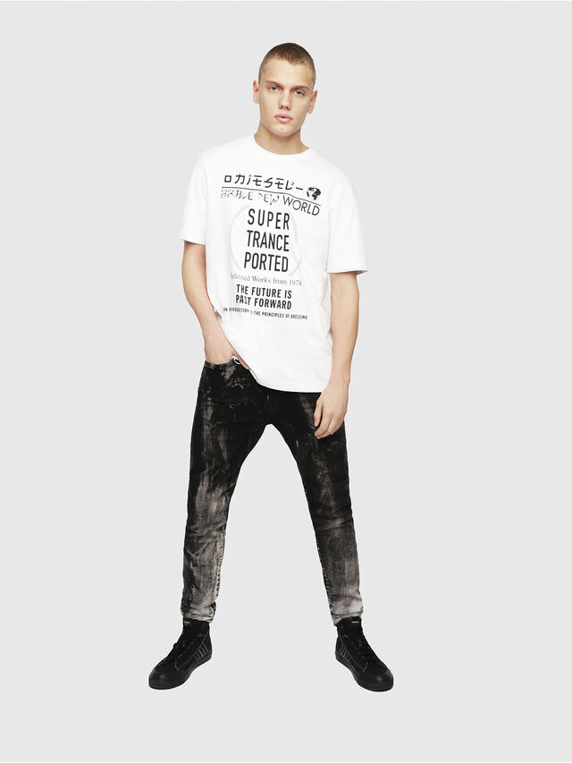 Diesel - T-JUST-YL, Bianco - T-Shirts - Image 4