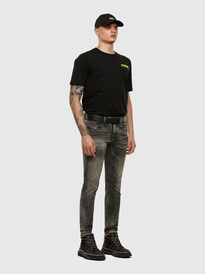 Diesel - D-Strukt 009EV, Nero/Grigio scuro - Jeans - Image 5