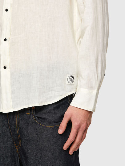 Diesel - S-EAST-LONG-LIN, Bianco - Camicie - Image 4