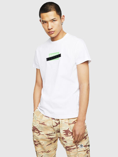 Diesel - T-DIEGO-S7, Bianco/Verde - T-Shirts - Image 1