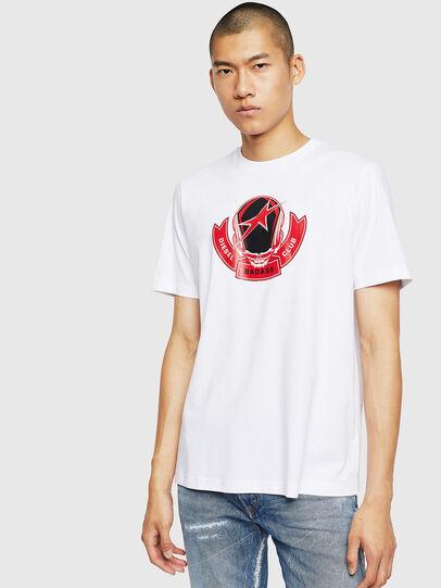 Diesel - T-JUST-B1, Bianco - T-Shirts - Image 1