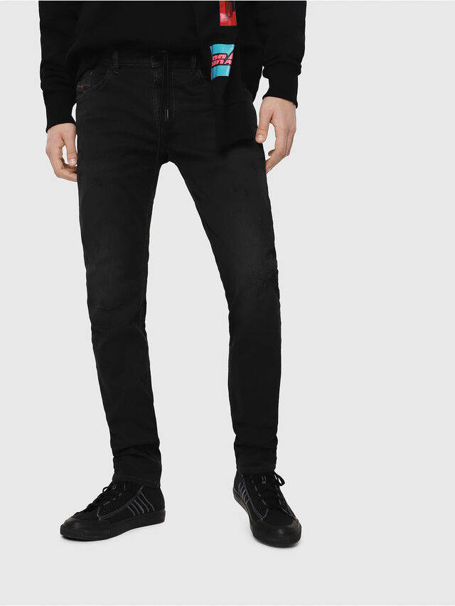 Diesel - Thommer JoggJeans 069FH, Nero - Jeans - Image 1