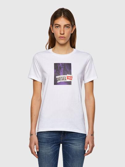 Diesel - T-SILY-B3, Bianco - T-Shirts - Image 1