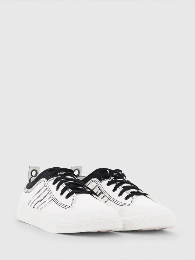 Diesel - S-ASTICO LOW LACE, Bianco/Nero - Sneakers - Image 2