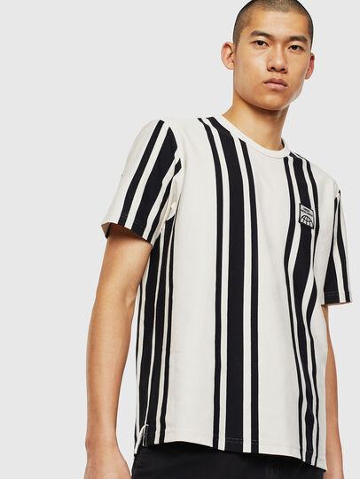 Diesel - T-STRIP-J1, Bianco/Nero - T-Shirts - Image 1
