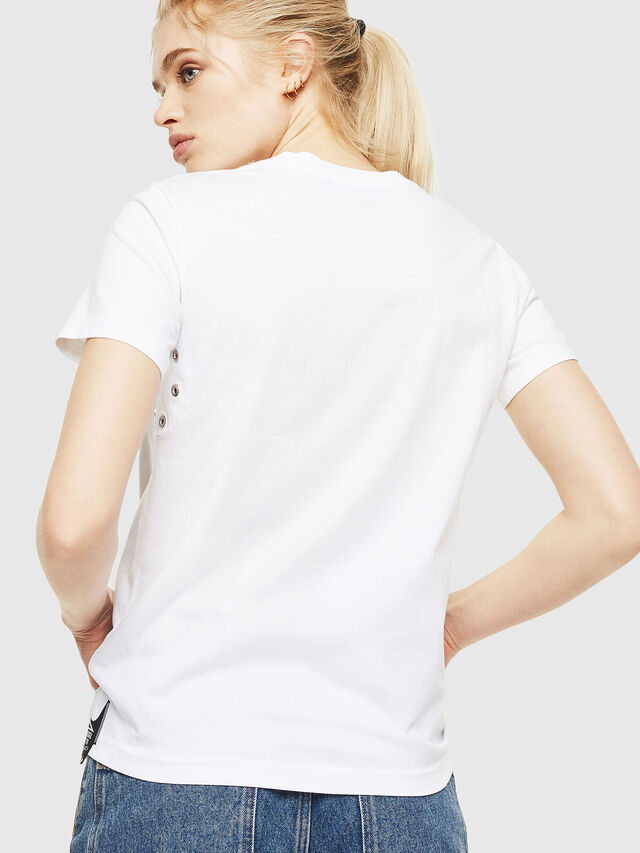 Diesel - T-SILY-WP, Bianco - T-Shirts - Image 2