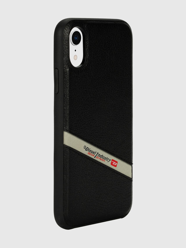 Diesel - DIESEL LEATHER CO-MOLD CASE FOR IPHONE XR, Nero - Cover - Image 6