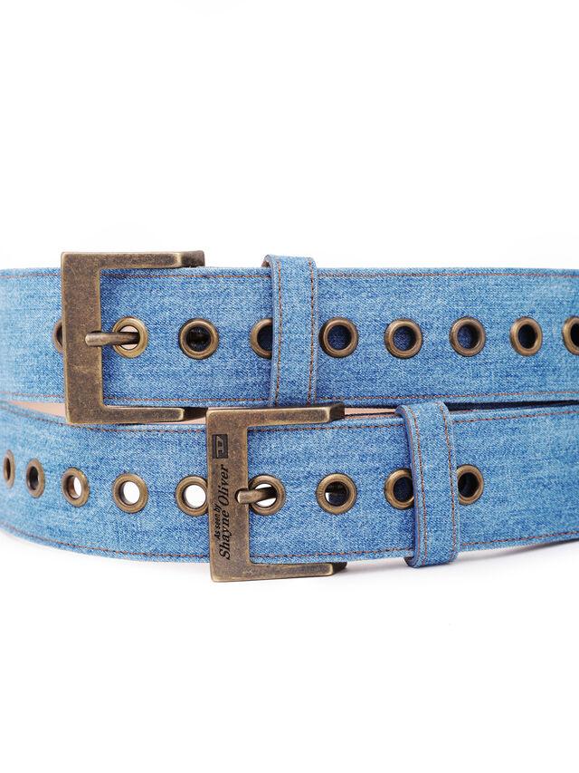 Diesel - SOBELT1, Blu Jeans - Cinture - Image 3