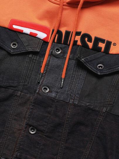 Diesel - D-BNHILL55, Arancione - Giacche in denim - Image 4