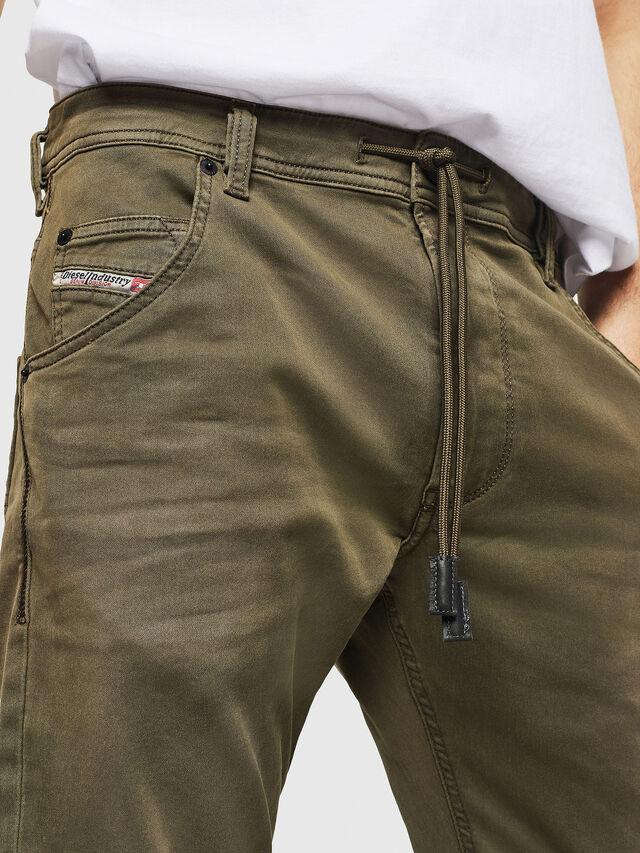Diesel - Krooley Long JoggJeans 0670M, Verde Militare - Jeans - Image 3