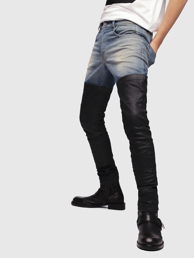 41f34efa33 D-STRUKT-G 087AP Uomo: Slim Jeans Colorato | Diesel