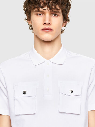 Diesel - T-ERPOLOCK, Bianco - Polo - Image 3