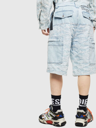 Diesel - D-LUK-SHORT, Blu Chiaro - Shorts - Image 2