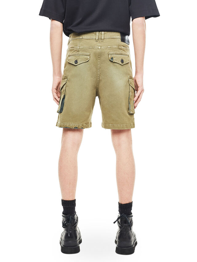 Diesel - TYPE-2908, Verde Militare - Shorts - Image 2