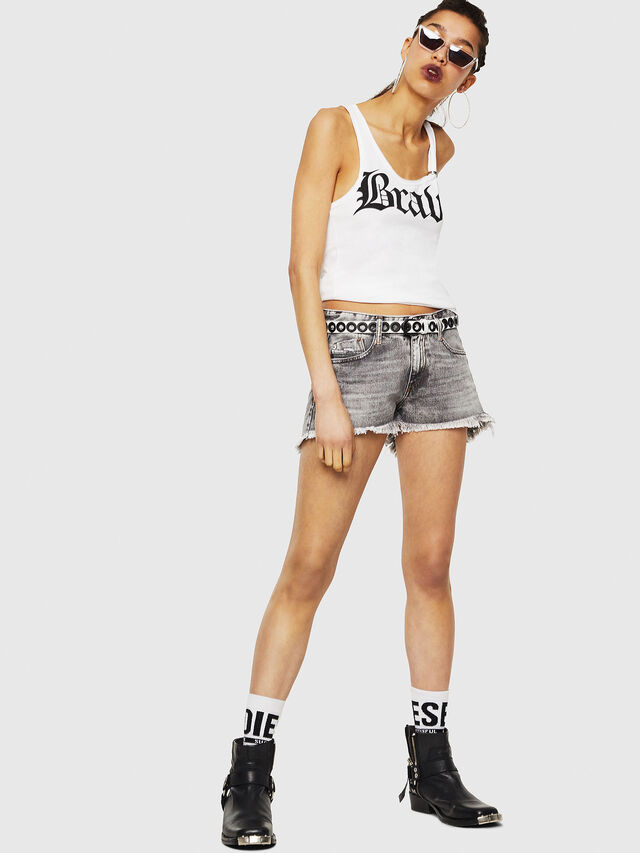 Diesel - T-KARY-A, Bianco - T-Shirts - Image 5