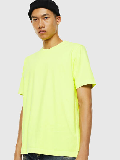 Diesel - T-JUST-SLITS-FLUO, Giallo Fluo - T-Shirts - Image 1