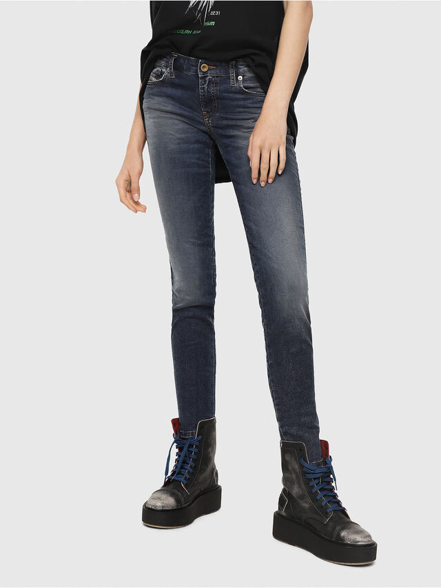 Diesel - Gracey JoggJeans 069FG, Blu medio - Jeans - Image 1