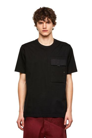 T-shirt in cotone Supima con inserti