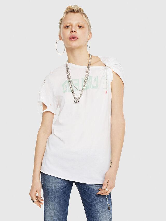 Diesel - T-FLAVIA-G, Bianco - T-Shirts - Image 1