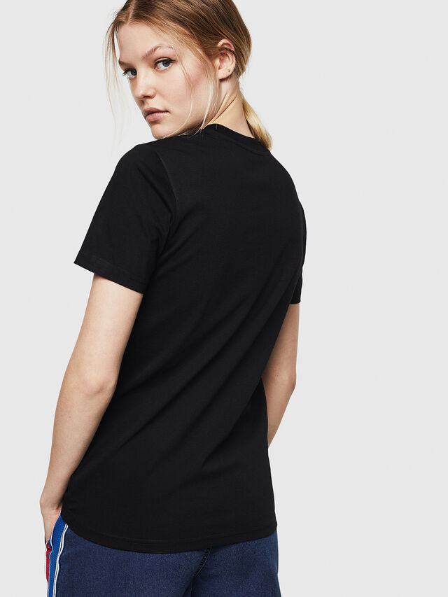 Diesel - T-SILY-ZE, Nero - T-Shirts - Image 2
