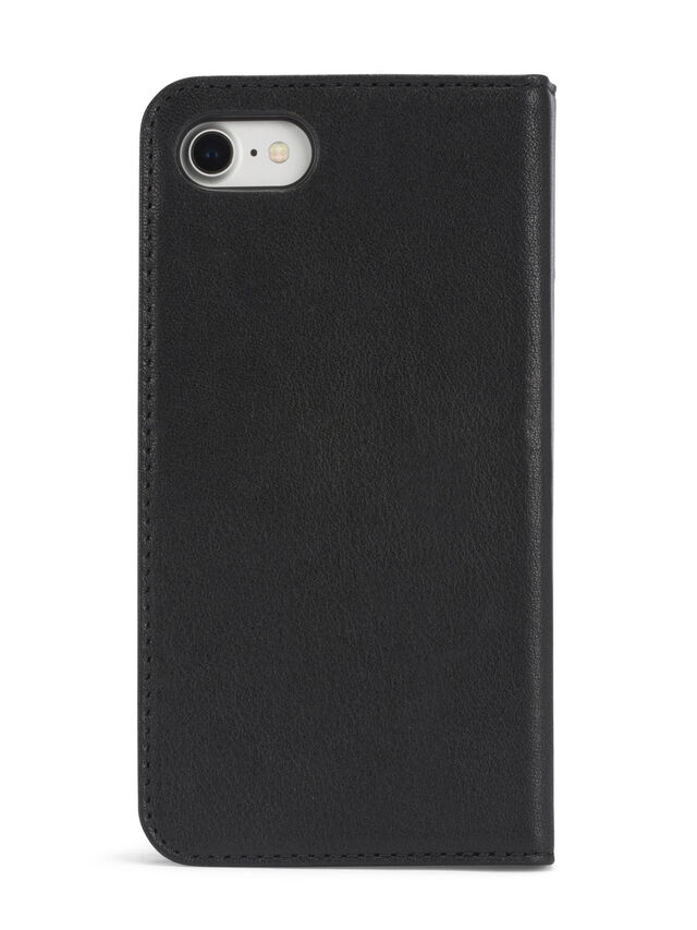 BLACK DENIM/STUD/ZIPPER IPHONE 8/7 FOLIO, Nero