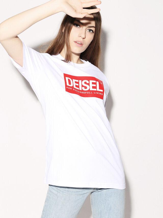 Diesel - DEIS-JUST, Bianco - T-Shirts - Image 3