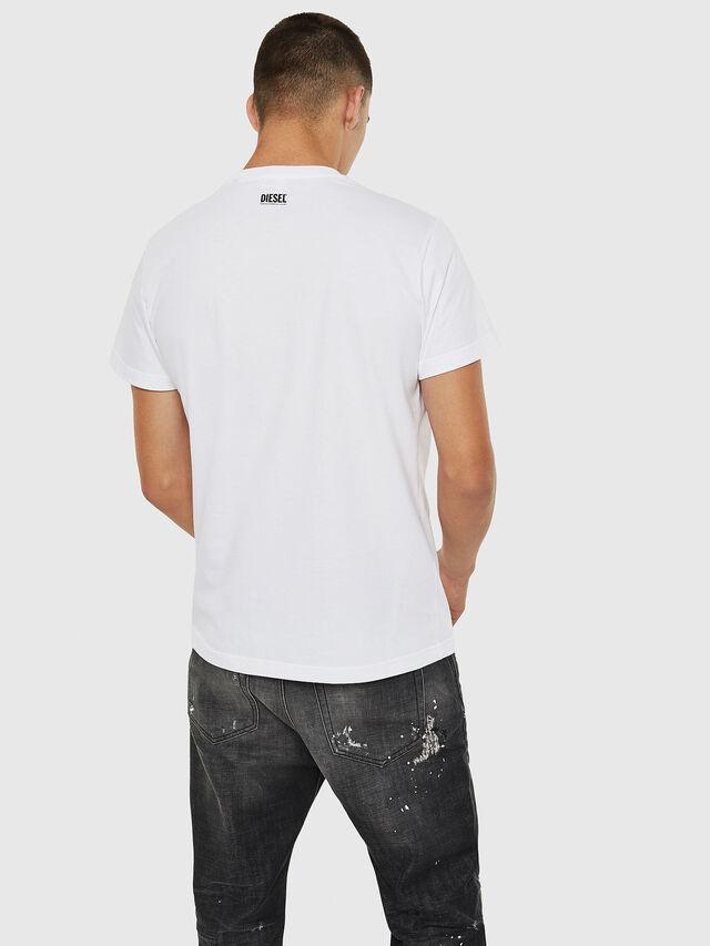 Diesel - T-DIEGO-B10, Bianco - T-Shirts - Image 2