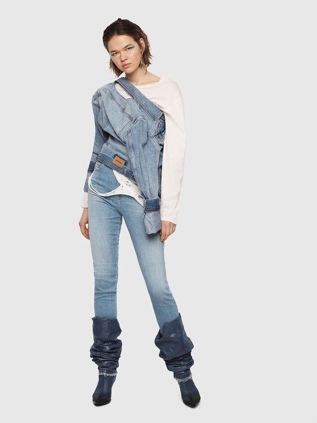 Diesel - Babhila High 081AF, Blu Chiaro - Jeans - Image 5
