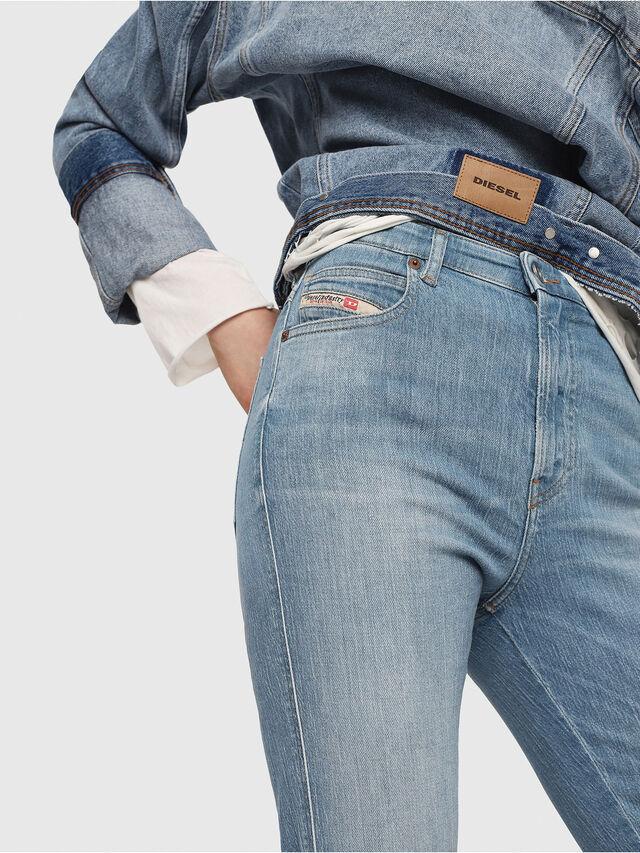 Diesel - Babhila High 081AF, Blu Chiaro - Jeans - Image 3