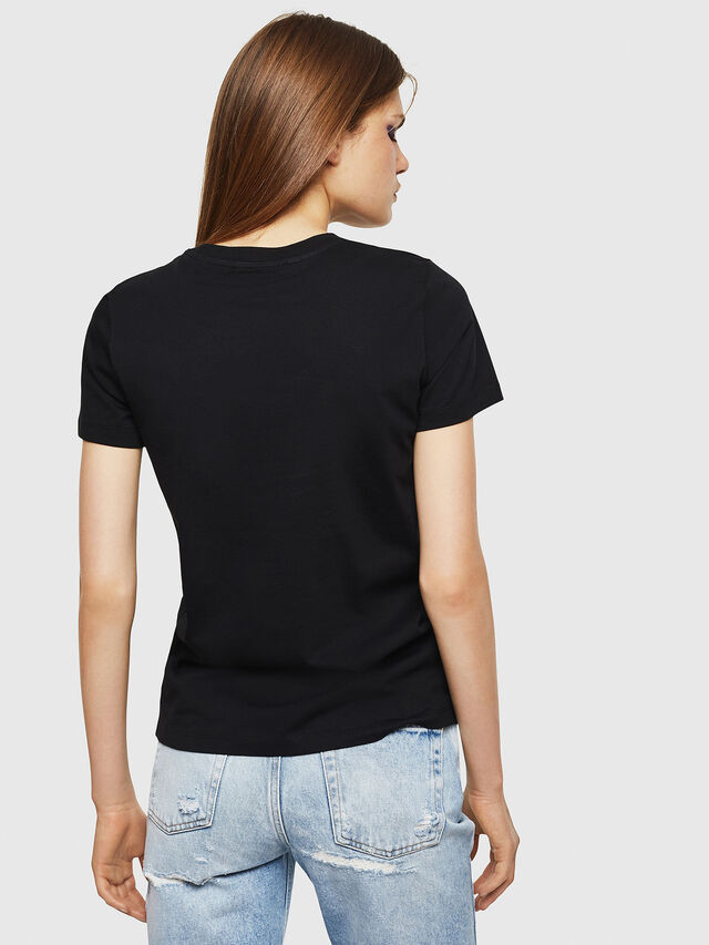 Diesel - T-SILY-DIVISION, Nero - T-Shirts - Image 2