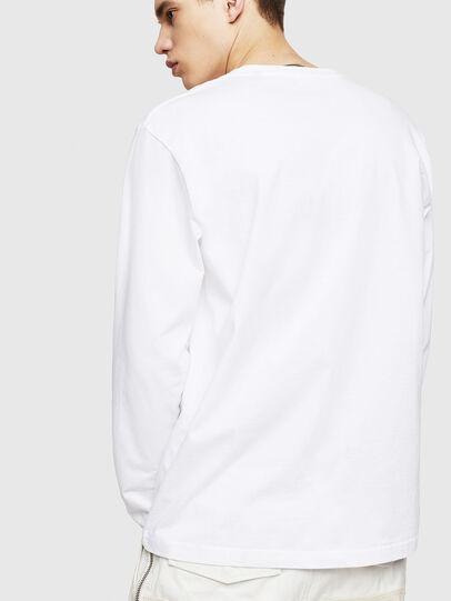Diesel - T-JUST-LS-COPY, Bianco - T-Shirts - Image 2