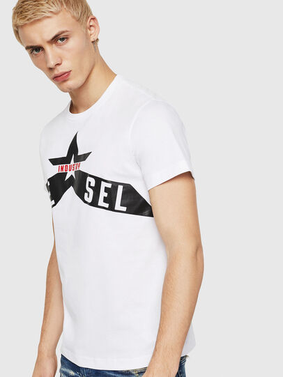 Diesel - T-DIEGO-A7, Bianco - T-Shirts - Image 1